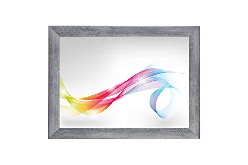 Framo 'Artist' 90 x 170 Bilderrahmen (Grau gewischt) nach Maß, 35 mm breiter MDF-Holz Rahmen inkl. entspiegelter Anti-Reflex Acrylglasscheibe, stabilisierender Rückwand, Biegestiften und Aufhängern