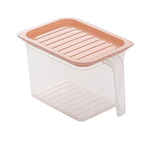 Caja de almacenamiento de cocina transparente Tarro sellado Organizador de cocina Recipiente de comida r Cajas de comida-rosa S
