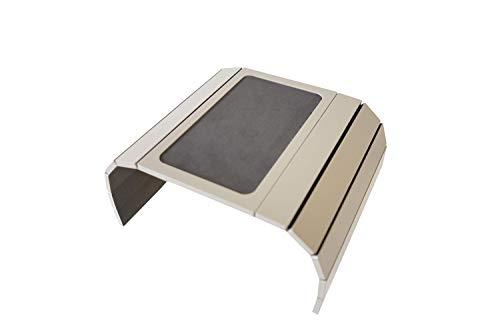 Meistar Global - Mesa de sofá con Bandeja y Base de Goma EVA. Laterales con Peso. Se Adapta a Brazos de Silla Cuadrados. Fendy