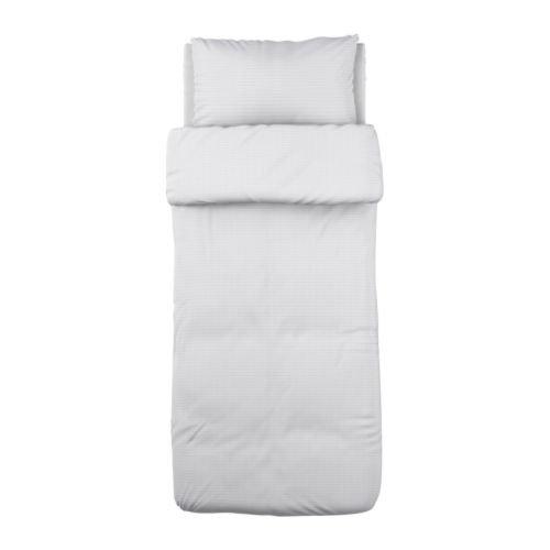 Ikea Ofelia Vass copripiumino e federe, Twin, bianco