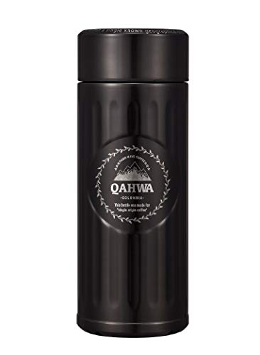 シービージャパン 水筒 ブラウン 420ml 直飲み ステンレス ボトル 真空 断熱 カフア コーヒー ボトル QAHWA