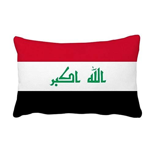 DIYthinker Irakese nationale vlag Azië land gooien Lumbar kussen invoegen kussen Cover Thuis bank Decor Gift