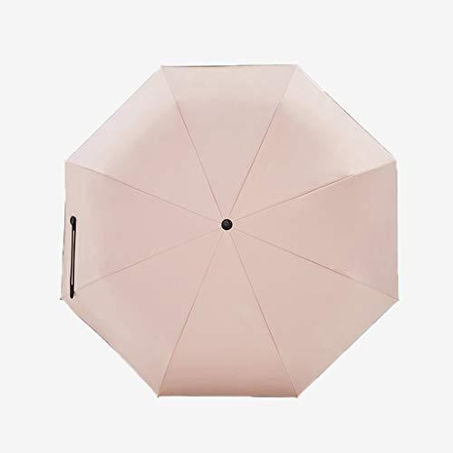 AINIYF Mini Compact Sun & Rain Umbrella - Leichter tragbarer Outdoor-Sonnenschirm for Frauen, Männer, Kinder, Wind- und UV-Schutz (Color : Pink)
