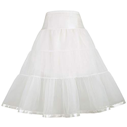 GRACE KARIN Due Strati differenziati Vintage Vestito Crinolina Sottoveste Sottoveste 14-15 Anni CL11035-3