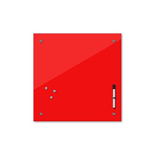 Bilderdepot24 Memoboard 40 x 40 cm, 24 Farben - rot - Glas - Glasboard - Glastafel - Magnetwand - Pinnwand - Mehrzwecktafel Farbton - Grundfarbe - einfarbige Schreibtafel