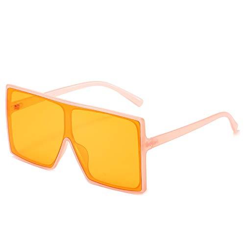 NBJSL Señoras y hombres Caja de color degradado de moda Gafas de sol Unisex Moda Marco grande Gafas de sol protectoras UV Exquisito embalaje de regalo