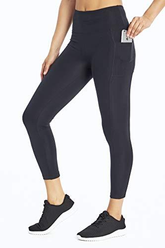 Bally Total Fitness Leggings mit hoher Taille und Taschen, Damen, knöchellange Leggings, High Rise Pocket Ankle Legging, schwarz, Medium