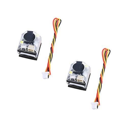 iFlight 2pcs FPV Finder Buzzer YR50B_S 5V Super Loud Alarm Tracker 100dB Dual LED Lights for FPV Racing RC Drone Airplane