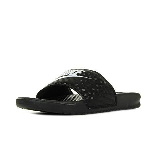 Nike Benassi JDI, Slide Sandal Mujer, Negro Black White 011, 42 EU