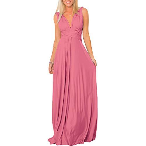FYMNSI Multiway, abito lungo da sera da donna, abito da damigella d'onore, lunghezza del fondo,...