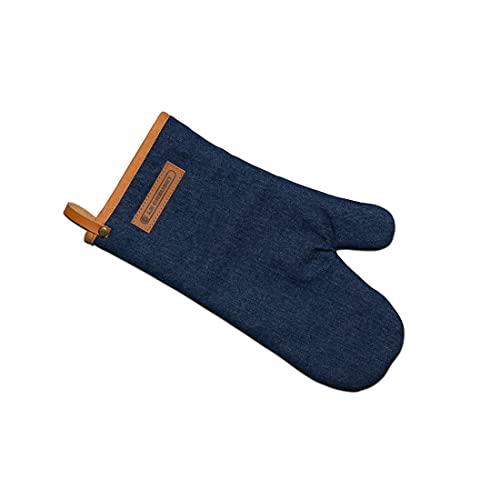 Le Creuset Gant de Four, 100% Coton, Longueur 12.5 in / 31.75 cm, Denim Bleu Nuit, 45100327760800