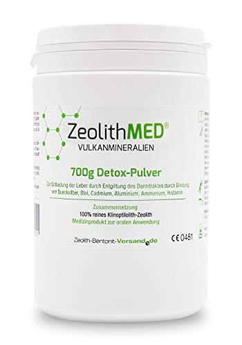Zeolith MED Detox-Pulver 700g, CE zertifiziertes Medizinprodukt