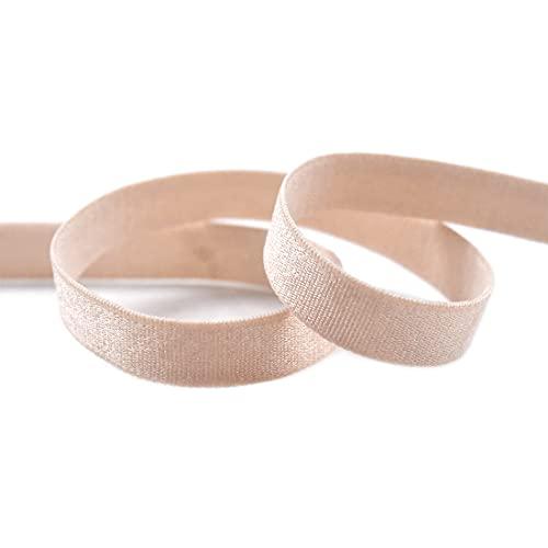 DIY PARK 5 Yard 3/8' 10mm Shiny Nylon Bra Strap Elastics Spandex Bands Shoulder Tape Underwear Lingerie DIY Sewing Trim (Nude)