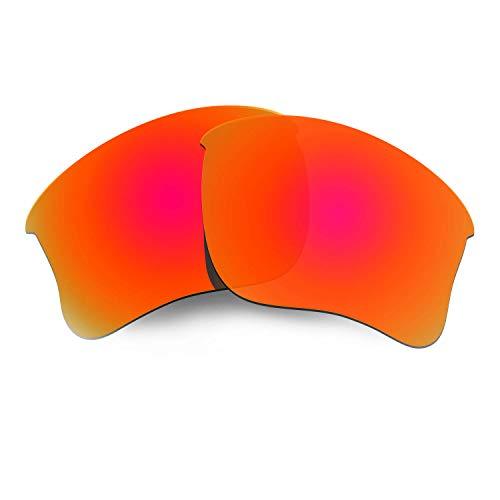 HKUCO Plus Mens Replacement Lenses for Oakley Flak Jacket XLJ Sunglasses Red Polarized