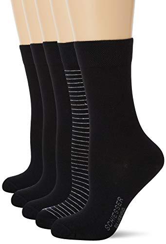 Schiesser Damen Multipack 5 Pack Damensocken Strümpfe Socken, Sortiert 5, 39-42 EU