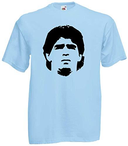 World of Shirt Herren T-Shirt Diego Maradona Fussballgott 10 Trikot