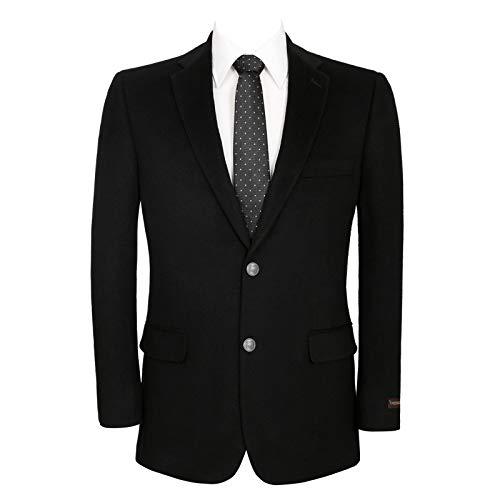 Pio Lorenzo Men's Modern Suit Jacket Wool Blend Sport Coat Classic Fit Blazer Brown Mix