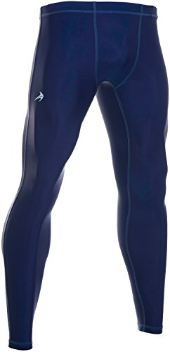 CompressionZ Men's Compression Pants Base Layer Running Tights Gym Leggings (Navy, L)