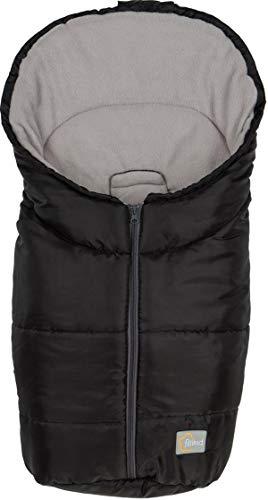 Fillikid Fleece-Winterfußsack Eco Small für 5-Punkt-Gurt Systeme - Schwarz