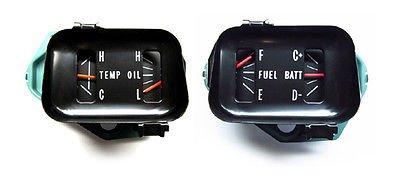 1966-67 Chevelle Oil/Temp/Fuel/Battery Dash Gauges OEM - Factory Gauge Set