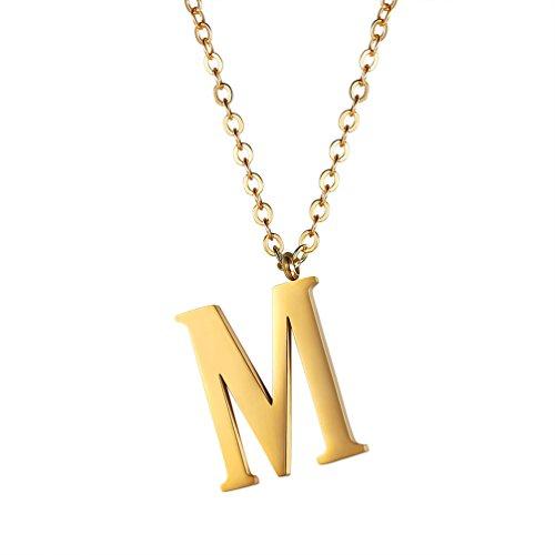 PROSTEEL Collar de Iniciales Colgante de Letra A-Z Colgante para Mujer Hombre...
