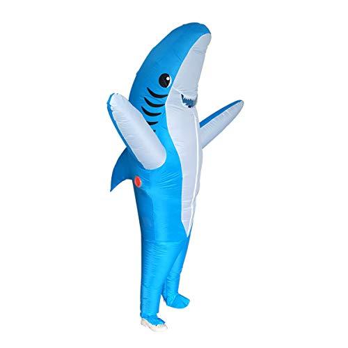 Stegosaurus Inflatable Shark Costume Kids, Shark Inflatable Costume for Halloween Costumes Cosplay Party Funny (Blue)