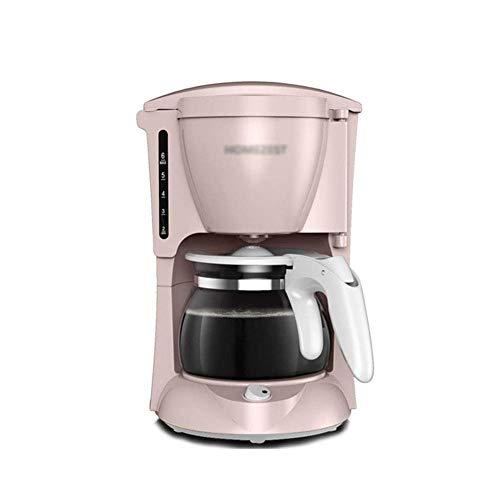 AYDQC Máquina de café, máquina de café Americana automática, Taza de café de Goteo para el hogar, Negro fengong (Color : Pink)