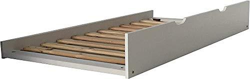 Holzbettrahmen mit einer einfachen modernen Rollen herausgezogen bedstead werden kann, zog in der und aus leicht zu Design,Grey