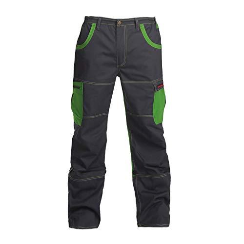 Charlie Barato Arbeitshose grau/grün - Bundhose für Handwerker (54)