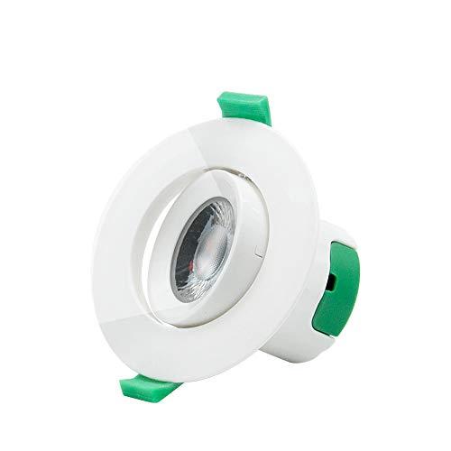 Lampe Spot Plafonnier Orientable Encastrable LED à Encastrer 7W 220V pour Plafond Blanc Froid 5000K Trou de Plafond Diamètre 70~75MM Lot de 1 de Enuotek