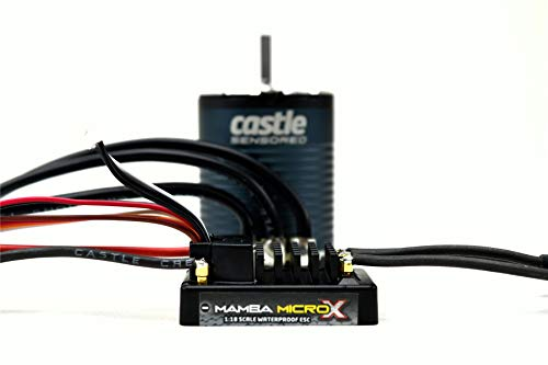 Castle Creations 1/10 Mamba Micro X Crawler Edition ESC/1406-1900KV Sensored Brushless Motor Combo: 4mm Bullet, CSE010016201