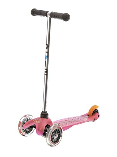 Micro Mini Scooter 3 Wheel Lightweight With Removable Handlebar For Age 3-5 - Pink