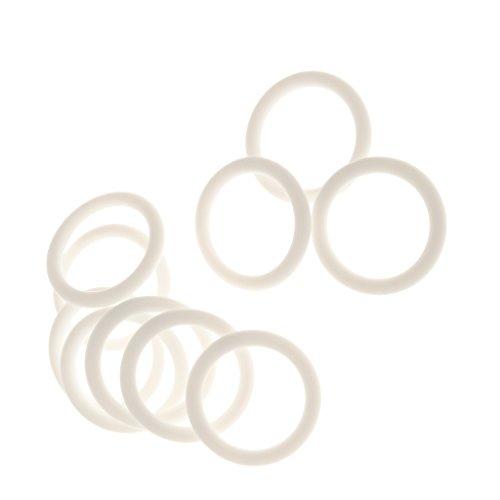 SM SunniMix 10pcs Weißer Silikonring Silikon Baby Schnuller Adapter Schnullerhalter O Ringe