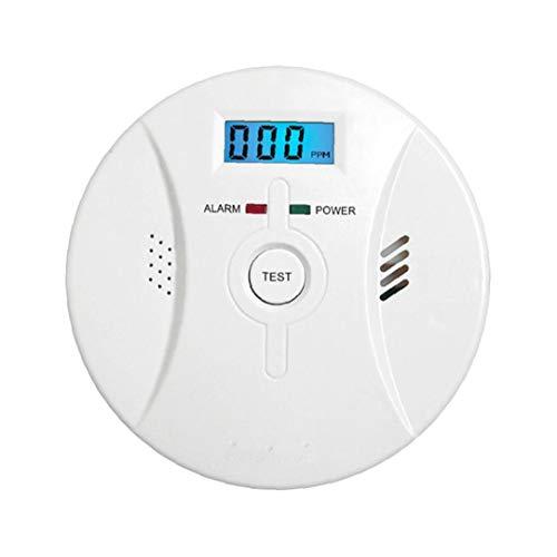 linjunddd Co Alarm Rauchmelder Kohlenmonoxid-Alarm mit LCD-Display Sprachbenachrichtigung für Heim Feuer Gas Leaks