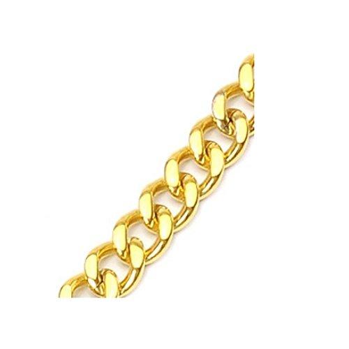 Bungsa® Königskette Gold Edelstahl Klassische Glieder Halskette für Damen und Herren 2mm breit (Edelstahlkette Damenkette Herrenkette Necklace Herren Frauen Männer Schmuck)