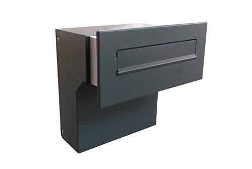 F-04 Anthrazit (RAL 7016) Mauerdurchwurf Briefkasten (Tiefe: 19-27 cm) - LETTERBOX24.de