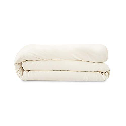 Whisper Organics 100% Organic Cotton Duvet Cover, 500 Thread Count - GOTS Certified (Twin, Natural)
