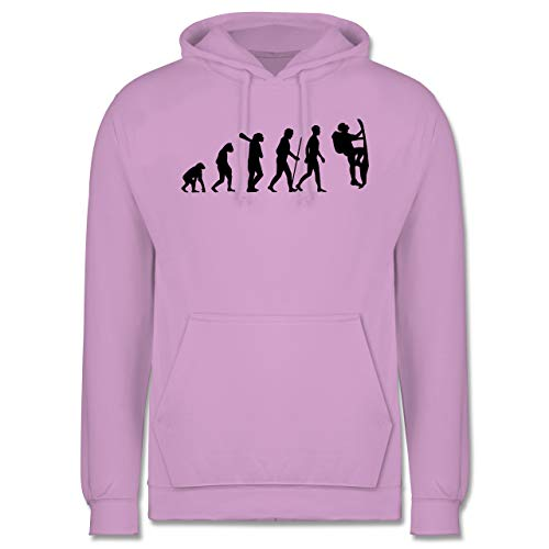 Shirtracer Evolution - Klettern Evolution - S - Lavendel - JH001 - Herren Hoodie und Kapuzenpullover für Männer