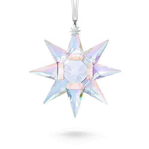 SWAROVSKI 125th Anniversary Engraved Annual Edition 2020 Crystal Star Ornament, 4' Tall, Multicolor Shimmer