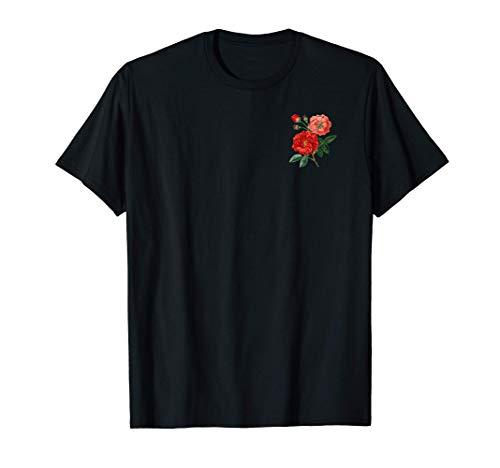 Botanical Aesthetic Rose Flower Grunge Women Girls Botanist T-Shirt