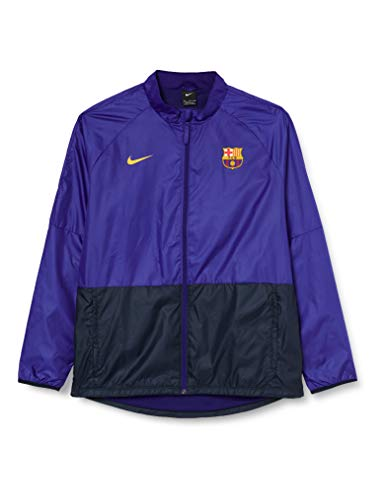 Nike Herren Windbreaker FC Barcelona Academy, Deep Royal Blue/Dark Obsidian/Amarillo, M, CI9529-455