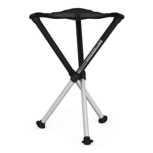 Walkstool Dreibeinhocker zum Mitnehmen Comfort, schwarz, 55 cm