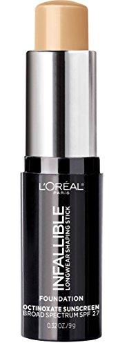 L'Oreal Paris Makeup Infallible Longwear Shaping Stick Foundation, 405 Sand, 1 Tube, 0.32 Ounce