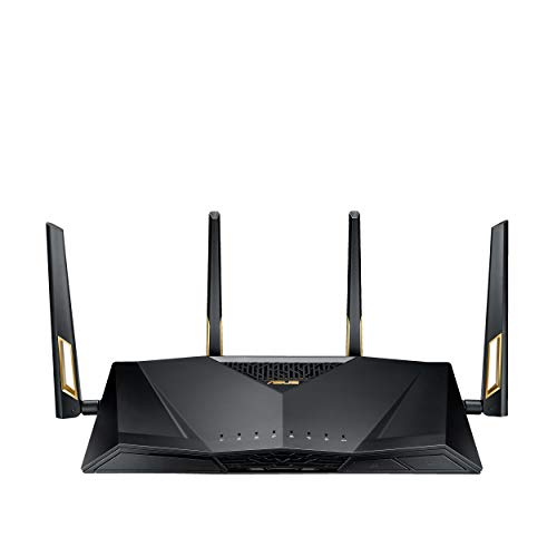 ASUS RT-AX88U AX6000 de Doble Banda Wi-Fi 6 (802.11ax) Router Apoyo MU-MIMO y tecnología OFDMA, AiProtection Pro Seguridad de Red Powered
