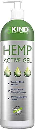 Gel de Cáñamo Alivio Activo para Músculos y Articulaciones- Gran Poder Calmante Fórmula con Aceite de Cannabis Rica en Extractos Naturales Para el Alivio de Pies, Rodillas, Espalda, Hombros (1000ml)