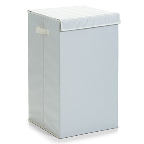 Zeller 13263 Wäschesammler, faltbar, Polyester, 35 x 35 x 60 cm, beige