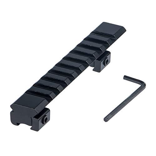 ToopMount Riser Mount Tactical 11mm a 20mm Adaptador de Montaje en riel Weaver/Picatinny para Airsoft y Rifle