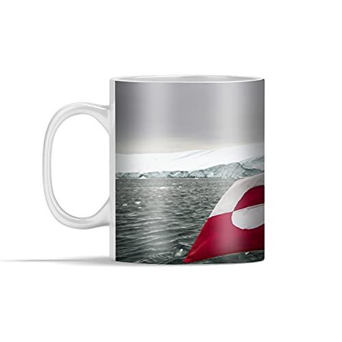 Tasse - Die Flagge von Grönland - 350 ml