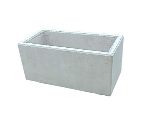bellaton - Pflanztrog, Betontrog 100x50x45cm, betongrau, ca. 130l, massiv