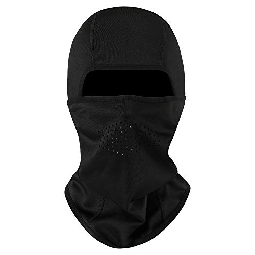 Aegend Breathable Balaclava Ski Mask - Cold Weather Face Mask Windproof Fleece Face Warmer - for Men Women Adults Youths - Black